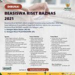 Beasiswa Riset Baznas 2021, Terakhir 20 Oktober 2021