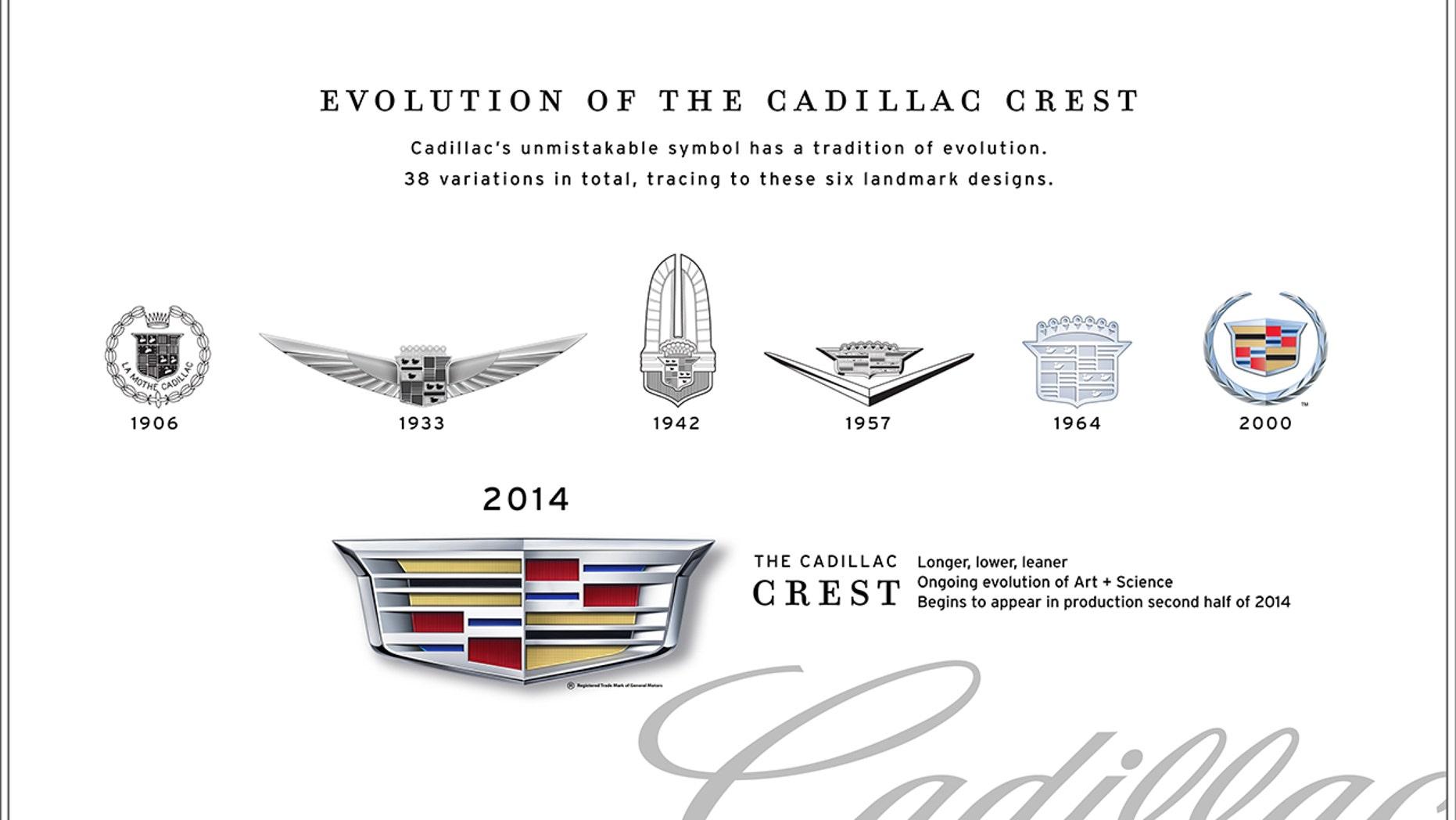 Logo Cadillac telah memiliki 38 variasi selama bertahun-tahun termasuk enam desain tengara. (Cadillac)